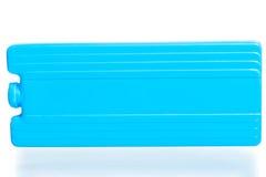 蓝色的thermobags的冷的累加器 免版税库存照片