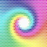 蓝色的webdesign的-,紫色,绿色,黄色颜色多角形背景 免版税库存照片