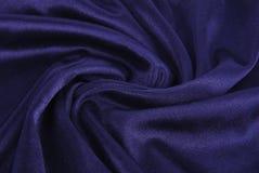 蓝色皇家丝绸纹理 库存图片