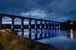 蓝色皇家边界桥梁 免版税库存照片