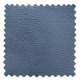 蓝色皮革抽样纹理 免版税库存照片