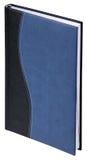 蓝色皮革笔记本 免版税库存照片