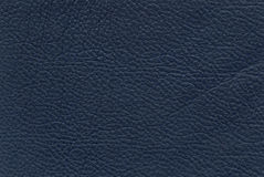 蓝色皮革纹理 免版税库存照片
