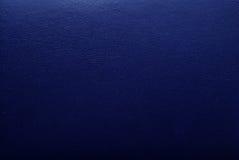 蓝色皮革纹理 库存照片