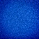 蓝色皮革纹理 库存图片