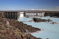 蓝色盐水湖 库存照片
