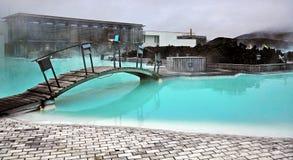 蓝色盐水湖在冰岛 库存图片