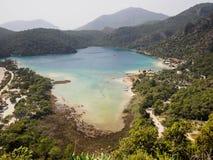 蓝色盐水湖,土耳其 免版税库存照片