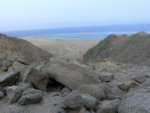 蓝色盐水湖,西奈,埃及 库存照片
