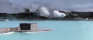 蓝色盐水湖 冰岛 免版税库存照片