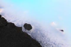 蓝色盐水湖 免版税图库摄影