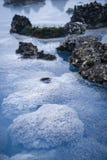 蓝色盐水湖 免版税库存图片