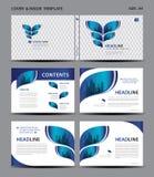 蓝色盖子设计和里面模板杂志的,广告,介绍,年终报告,书,传单,海报,编目,打印 向量例证