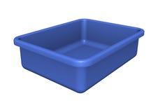 蓝色盘子 免版税库存照片