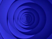 蓝色盘旋fractal41a 皇族释放例证