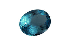 蓝色目录表单宝石卵形黄玉可用的vhq形象化 库存图片