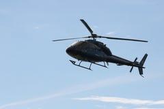 蓝色直升机 免版税库存图片