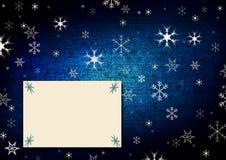 蓝色看板卡圣诞节问候 库存例证