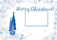 蓝色看板卡圣诞节问候 库存图片