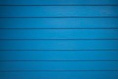 蓝色真正的木纹理背景 免版税库存图片