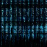 蓝色矩阵摘要-二进制编码屏幕背景 免版税库存图片