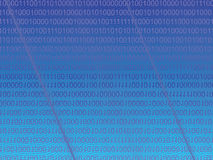 蓝色矩阵 免版税库存图片