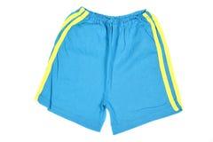 蓝色短裤 免版税库存照片