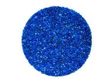 蓝色矽土凝胶在干燥器背景中 图库摄影