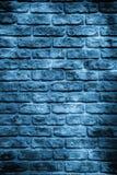 蓝色砖墙 免版税库存照片