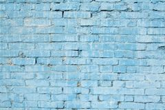 蓝色砖墙 免版税库存图片