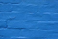 蓝色砖墙 库存图片