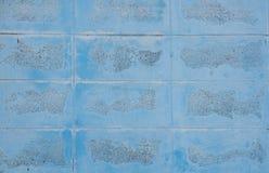 蓝色砖纹理墙壁 免版税库存照片