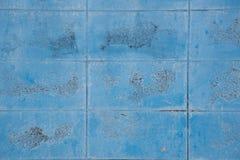 蓝色砖纹理墙壁 库存照片