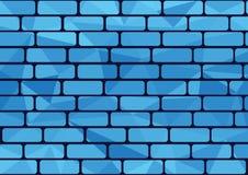 蓝色砖 库存照片