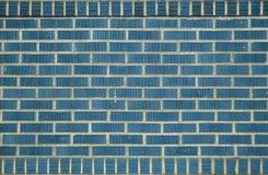 蓝色砖 免版税库存照片