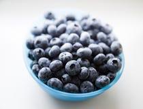 蓝色碗蓝莓 免版税库存照片
