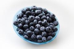 蓝色碗蓝莓 库存图片