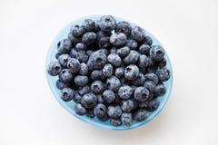 蓝色碗蓝莓 免版税图库摄影
