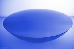蓝色碗说明的形状 库存照片
