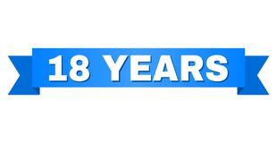 蓝色磁带与18年标题 向量例证