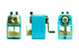 蓝色磨削器三观点 图库摄影