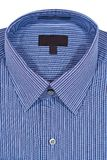 蓝色礼服细条纹布料的衬衣 免版税图库摄影
