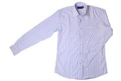 蓝色礼服细条纹布料的衬衣 库存照片
