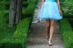蓝色礼服 免版税库存图片