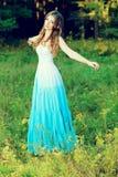 蓝色礼服 库存图片
