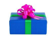 蓝色礼物盒 图库摄影