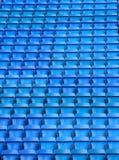 蓝色空座位 免版税库存照片