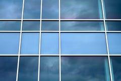 蓝色窗口透视背景正方形公司设计 图库摄影