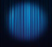 蓝色窗帘冰 库存图片