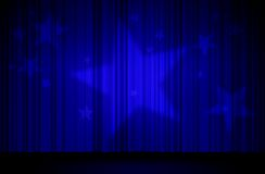 蓝色窗帘星形 库存例证